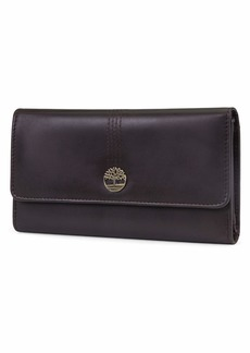 Timberland Women's Leather RFID Flap Wallet Clutch Organizer