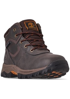 Timberland Little Boys' Mt. Maddsen Mid Waterproof Hiking Boots from Finish Line
