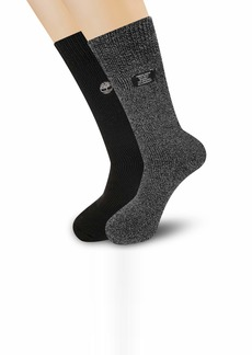 Timberland Men's 2-Pack Thermal Sweater Stripe Boot Socks