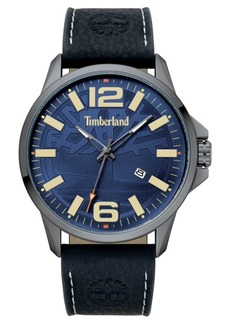Timberland Men's Bernardston Black/Gunmetal/Blue Watch