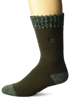 Timberland Men's Cabin Sock Basic Marled Cuff Dark