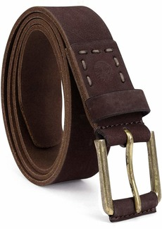 Timberland Men's Casual Leather Belt dark brown
