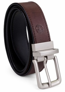 Timberland Men's Classic Leather Belt Reversible From Brown To Black Brown/black