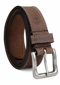 Timberland Men's Big and Tall Classic Leather Jean Belt 1.4 Inches Wide (Big & Tall Sizes Available)