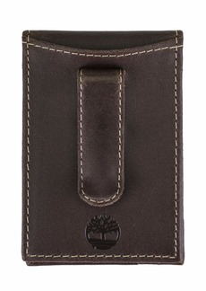 Timberland Men's Delta Minimalist Slim Money Clip Wallet Brown