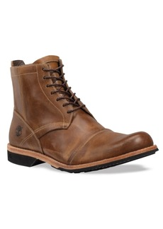 """Timberland Men's 6"""" City Side Zip Water Resistant Leather Boots Men's Shoes"""