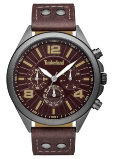 Timberland Men's Ferrisburg Multifunction Dark Brown/Gunmetal Watch