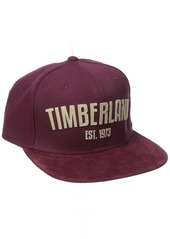 Timberland Men's Flannel with Corduroy Flat Brim Baseball Cap
