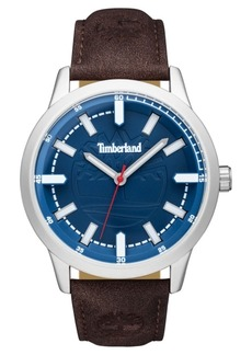 Timberland Men's Harwinton Dark Brown/Silver/Blue Watch