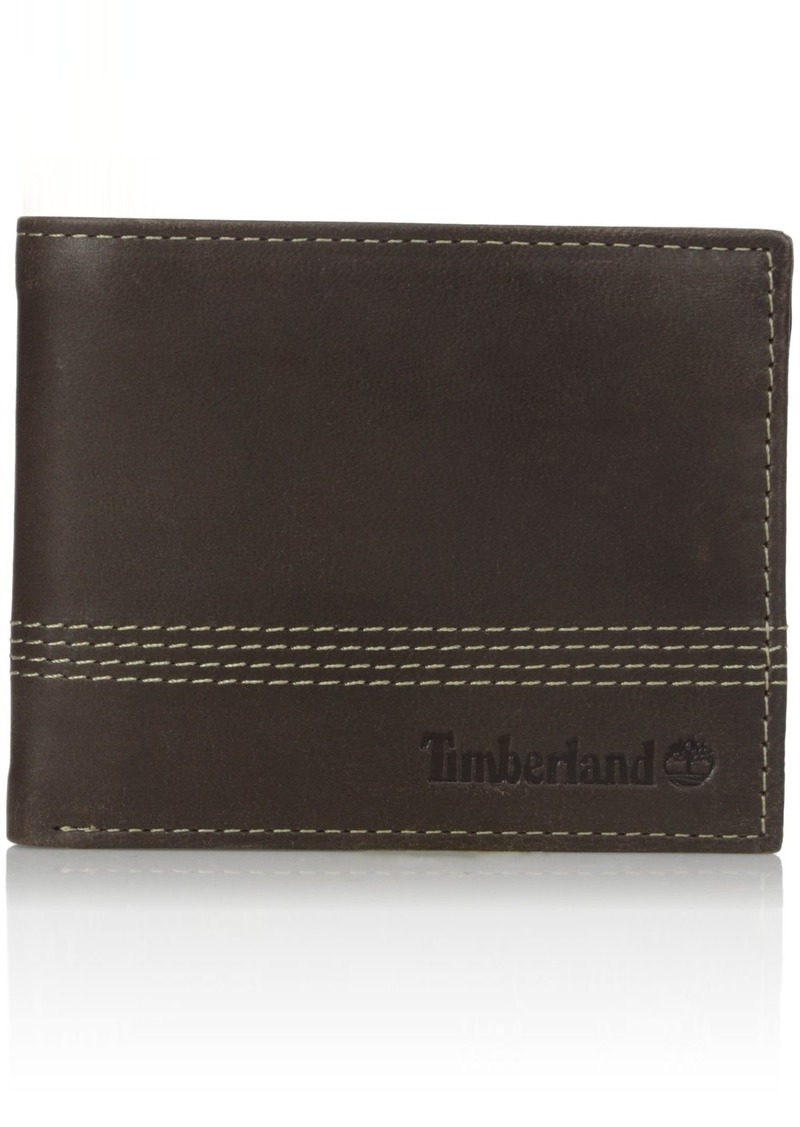 a545fce849a9 Timberland Men s Leather Slimfold Wallet with Matching Fob Gift Set One Size