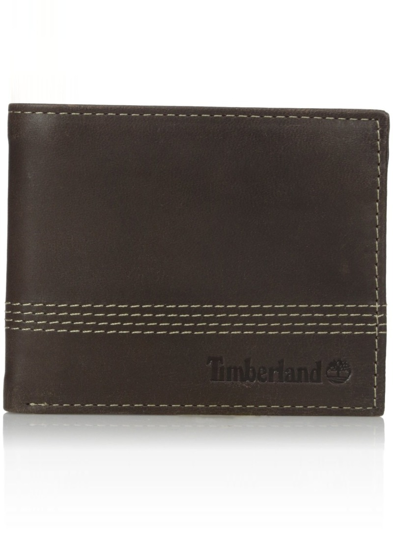 Timberland Men's Leather Slimfold Wallet with Matching Fob Gift Set  One Size