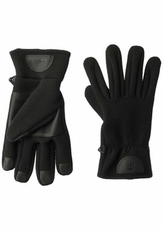 Timberland Men's Ribbed-Knit Glove with Touchscreen Technology black