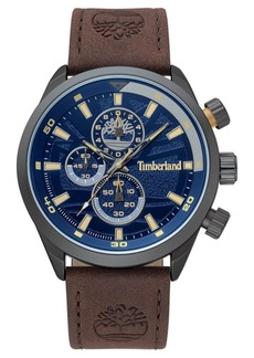 Timberland Men's Needham Chronograph Brown/Gunmetal/Blue Watch