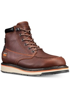 "Timberland Men's Pro Gridworks 6"" Moc-Toe Waterproof Boots Men's Shoes"