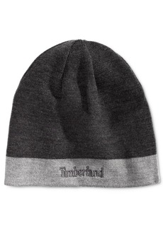 Timberland Men's Reversible Logo Beanie, Created for Macy's