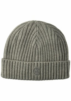 Timberland Men's Ribbed Watch Cap with Logo Patch