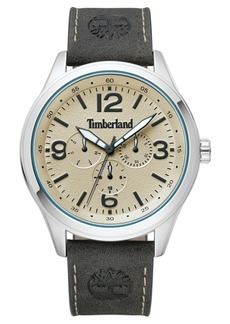 Timberland Men's Sandsfield Multifunction Dark Olive/Silver/Cream Watch