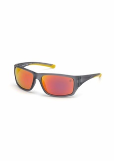 Timberland Men's TB9217 Polarized Wrap Sunglasses