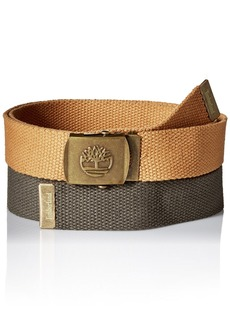 Timberland Men's Web Belt 2 Pack