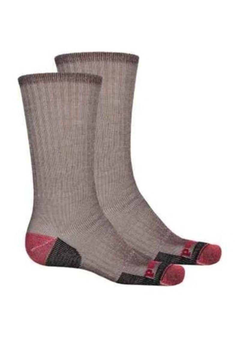 b19bfe276e Merino Wool Blend Hiking Socks - 2-Pack, Crew (For Men)