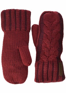 Timberland Plaited Cable Mittens  one size