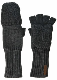Timberland Pop Over Fingerless Gloves Charcoal Heather grey one size