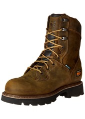 Timberland PRO Men's 8 Inch Crosscut Waterproof Soft Toe Logger Work Boot