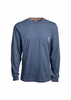 Timberland PRO mens Base Plate Blended Long-sleeve T-shirt Work Utility T Shirt   US