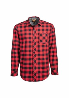 Timberland PRO Men's Woodfort Mid-Weight Flannel Work Shirt (Big/Tall)  4XL