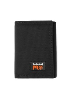 Timberland PRO Men's Cordura Nylon RFID Trifold Wallet with ID Window black
