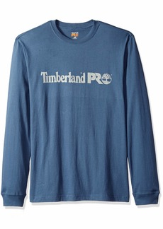 Timberland PRO Men's Cotton Core Long-Sleeve T-Shirt with Logo  L