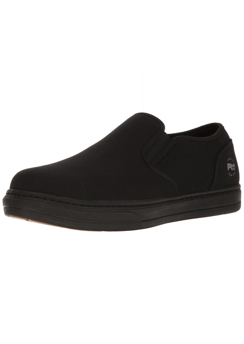 Timberland PRO Men's Disruptor Slip-On Alloy Safety Toe EH Industrial & Construction Shoe Black Canvas 11 W US