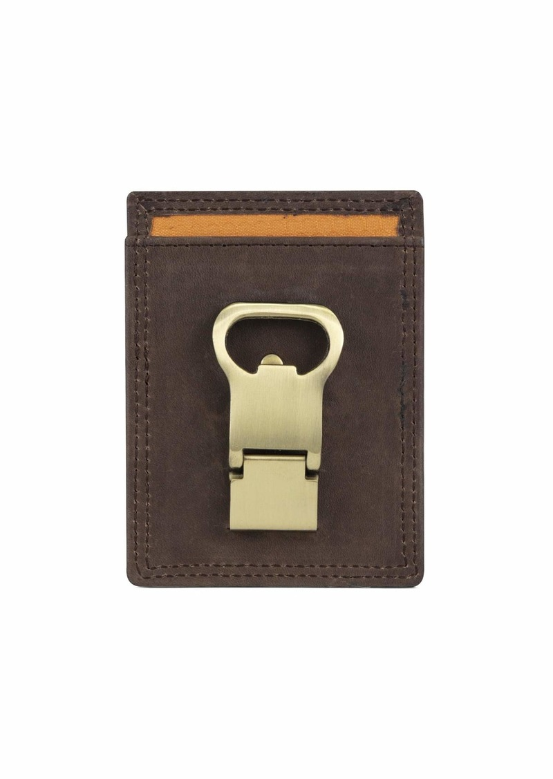 Timberland PRO Men's Leather Front Pocket Wallet with Money Clip