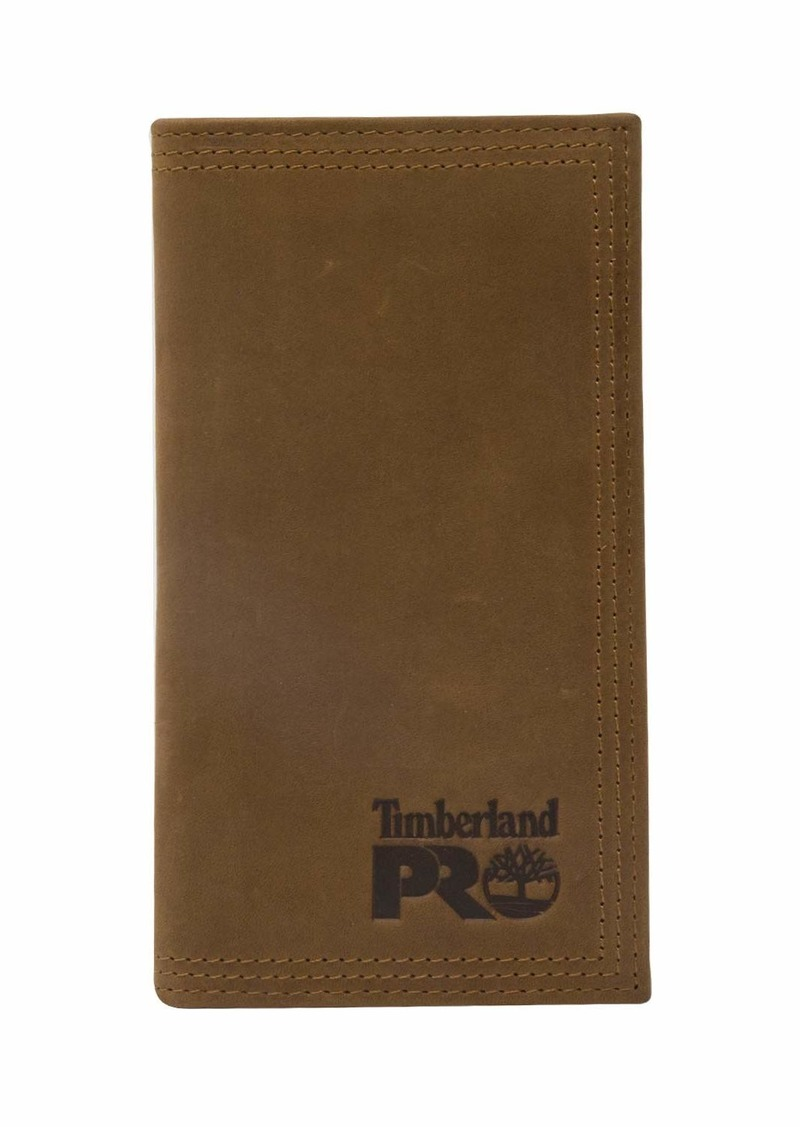 Timberland PRO Men's Leather Long Bifold Rodeo Wallet with RFID