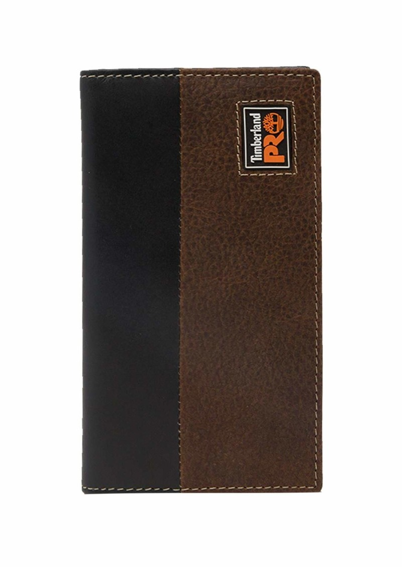 Timberland PRO Men's Leather Long Bifold Rodeo Wallet with RFID teak
