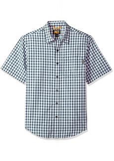 Timberland PRO Men's Plotline Short-Sleeve Plaid Work Shirt Navy