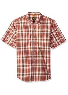 Timberland PRO Men's Plotline Short-Sleeve Plaid Work Shirt red Oxide