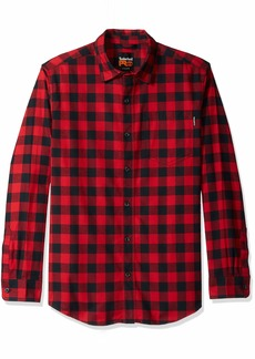Timberland PRO Men's R-Value Flannel Work Shirt Classic red Buffalo Check S