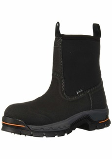 """Timberland PRO Men's Stockdale 8"""" Pull On Alloy Safety Toe Waterproof Industrial Boot   M US"""