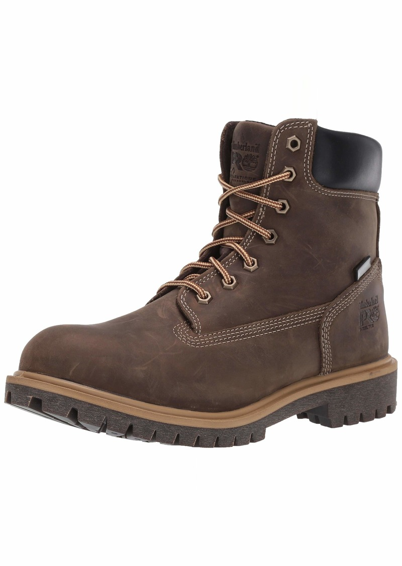 """Timberland PRO Women's Direct Attach 6"""" Steel Safety Toe Insulated Waterproof Industrial Boot turkish coffee"""