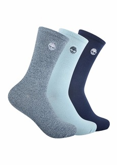 Timberland Women's 3-Pack Ribbed Supersoft Crew Socks