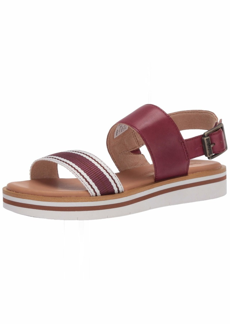 Timberland Women's Adley Shore Fabric and Leather Ankle Strap Sandal  00M Medium US