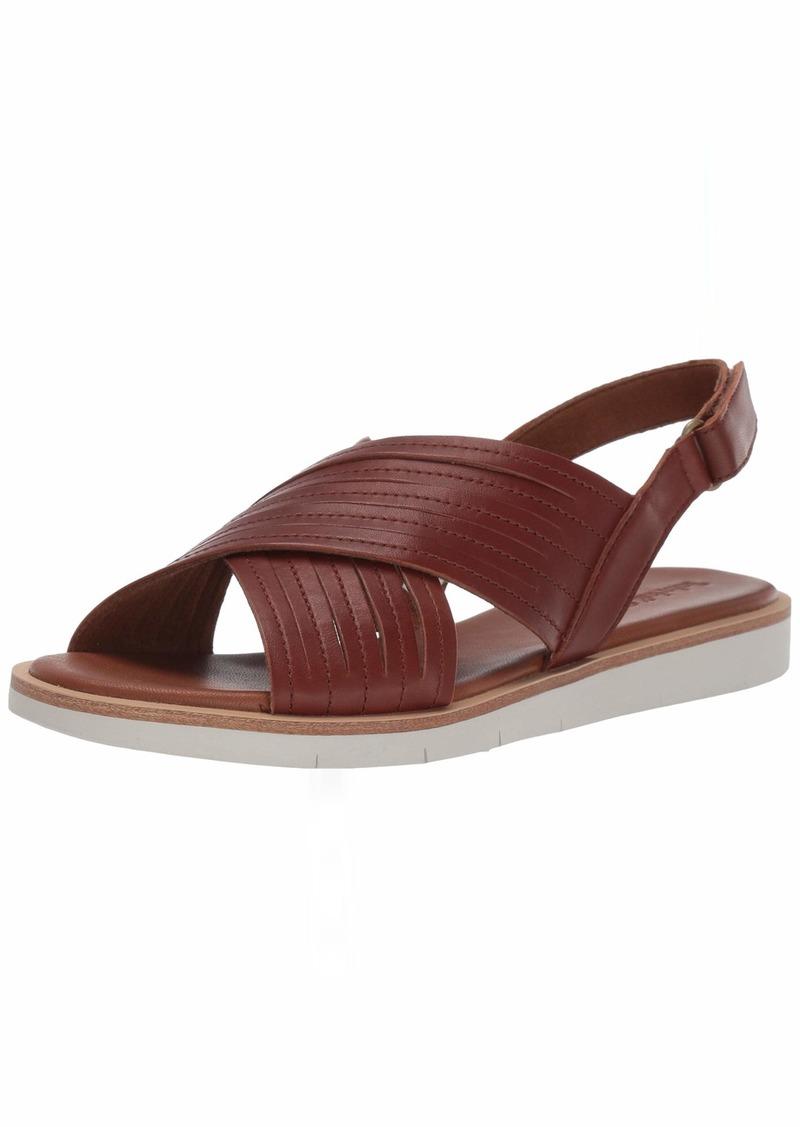 Timberland Women's Adley Shore X-Band Summer Flat Sandals Brown  Medium US