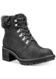 Timberland Women's Kinsley Hiker Waterproof Leather Boots Women's Shoes
