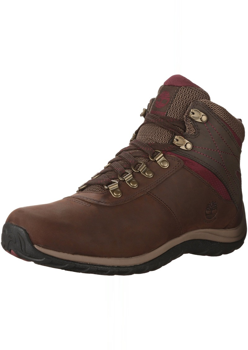 Timberland Women's Norwood Mid Waterproof Hiking Boot dark brown
