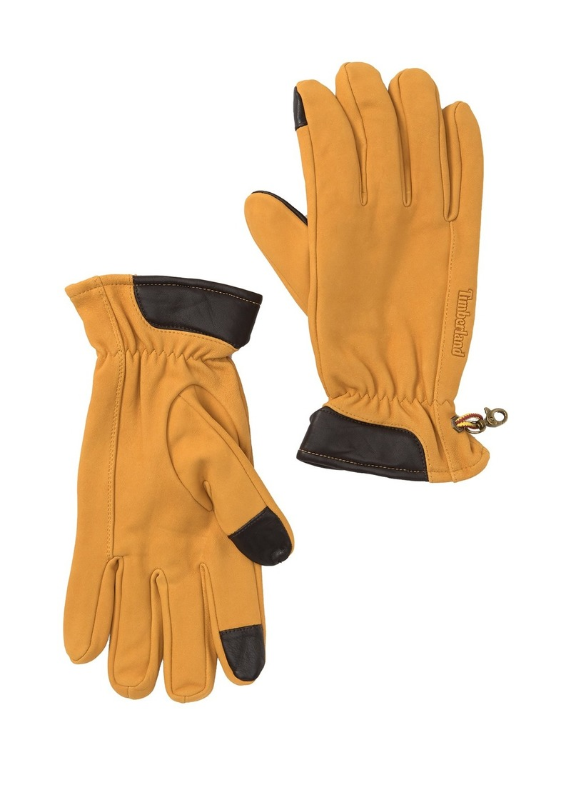 Timberland Touch Screen Technology Nubuck Leather Gloves