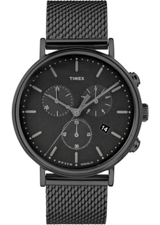 Timex Fairfield Chronograph 41mm Mesh Band Watch