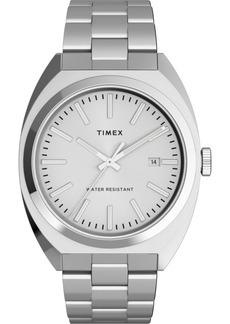 Timex Men's Milano Silver-Tone Stainless Steel Bracelet Watch 38mm
