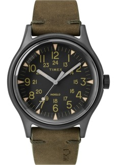 Timex Mk1 Steel 40mm Leather Strap Watch