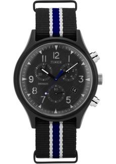 Timex MK1 Supernova Chronograph 42mm Black Fabric Strap Watch